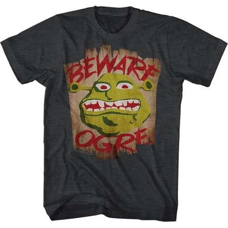 Shrek Movie Beware Black Heather Adult T-Shirt Tee thumb