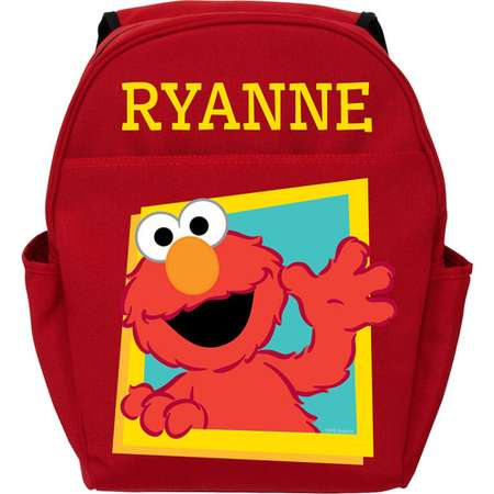 Personalized Sesame Street Red Toddler Backpack - Hello Elmo thumb