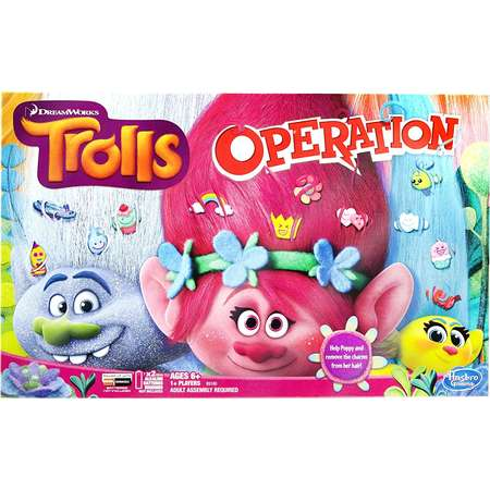 Trolls Operation Board Game, Silly Despicable Troll Exclusive Black Trolls Board Bracelet Book Look Pack Magnum Who in players Media Guess.., By Hasbro thumb
