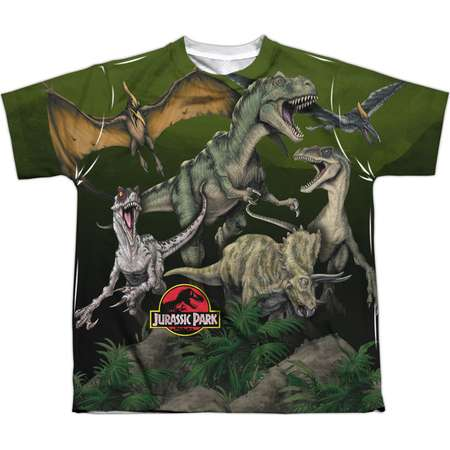 Jurassic Park Men's  Pack Of Dinos Sublimation T-shirt White thumb