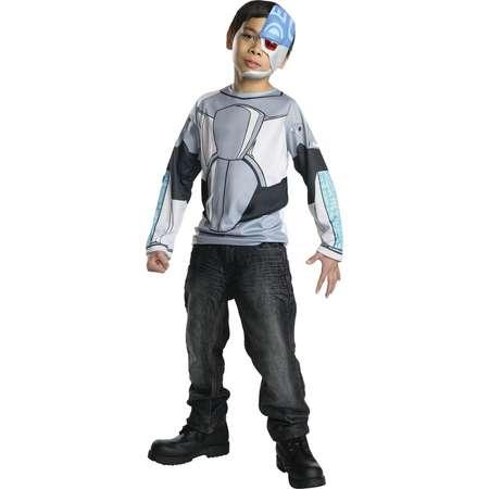 Kids Teen Titans Cyborg Costume Top thumb