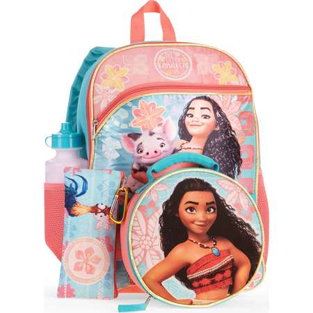 Moana 5-Piece Backpack Set With Lunch Bag thumb