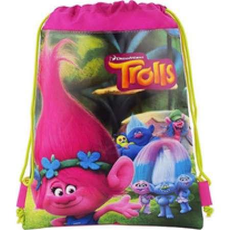 "Trolls The Movie 10\"" X 14\"" Drawstring Backpack Heavy Duty Nylon Bag Color- All thumb"