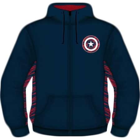 Avenger's Captain America Shield Big Men's Scuba Thermal Poly Fleece thumb