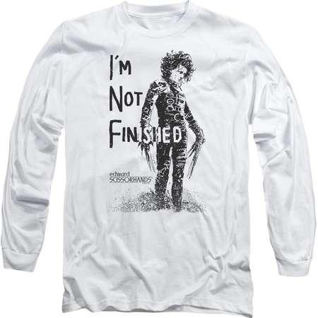 Edward Scissorhands - Not Finished Adult Long Sleeve T-Shirt - Adult Long Sleeve T-Shirt / S / White thumb
