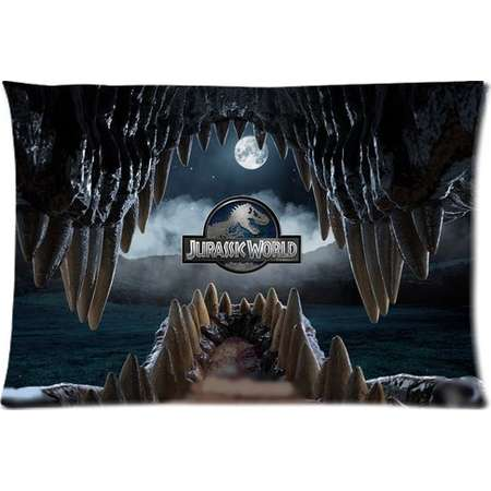 DEYOU Jurassic Park Pillowcase Pillow Case Cover Two Sides Printing Size 20x30 inch thumb
