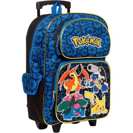 "Pokemon Characters 16"" Rolling Backpack - Kids thumb"
