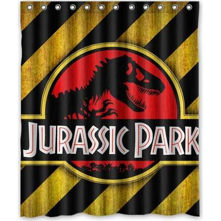 DEYOU Jurassic Park Shower Curtain Polyester Fabric Bathroom Shower Curtain Size 60x72 inch thumb