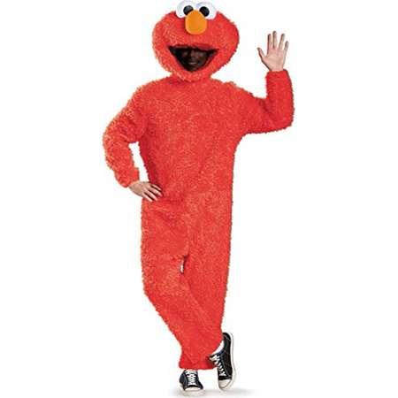 Sesame Street Elmo Plush Prestige Men's Adult Halloween Costume, XL thumb