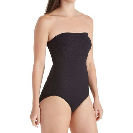 Women's Coco Reef T03007 Texture Galena Bandeau Shaping One Piece Swimsuit thumb