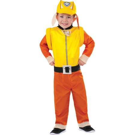 paw patrol rubble classic toddler halloween costume 3t 4t 1889 walmart