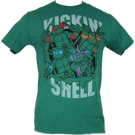 "Teenage Mutant Ninja Turtles TMNT Mens T-Shirt - ""Kickin Shell"" Turtle Attack thumb"