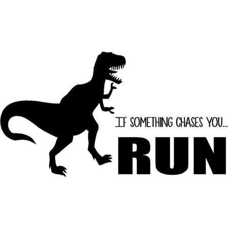"Jurassic Park Quote - dinosaur Vinyl Wall Decal | T-Rex Bedroom Decor - 20""x12"" thumb"