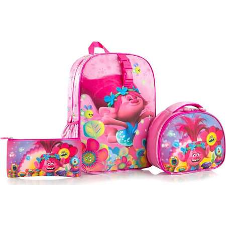 Trolls Deluxe School Bag Backpack with Lunch Bag and Pencil Case thumb
