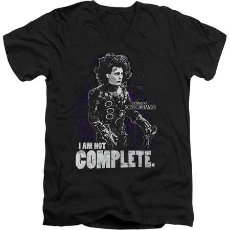Edward Scissorhands Men's  Not Complete Slim Fit T-shirt Black thumb