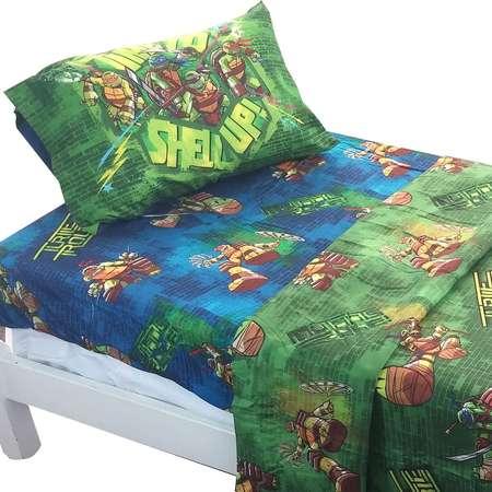 Shell Up 3pc Twin Bed Sheet Set100% Polyester By Teenage Mutant Ninja Turtles thumb