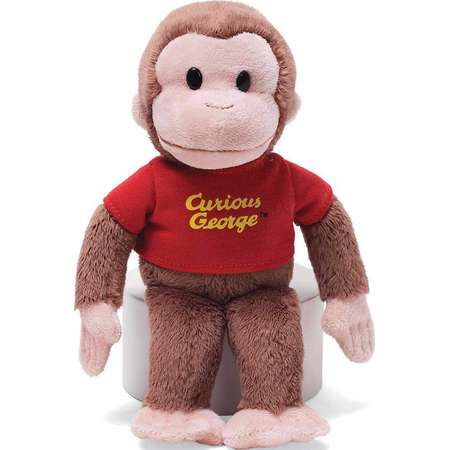 """Classic Curious George in Red Shirt 8"""" by Gund thumb"""