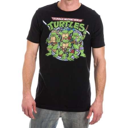 Teenage Mutant Ninja Turtles TMNT Men's Black T-Shirt Tee Shirt thumb