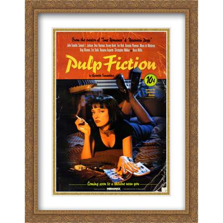 Pulp Fiction Uma 28x36 Double Matted Large Gold Ornate Framed Movie Poster Art Print thumb