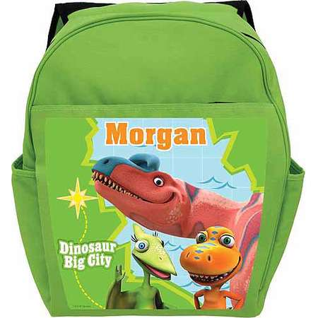f8624ca3952 Personalized Dinosaur Train Big City Adventure Toddlers  Green Backpack  thumb