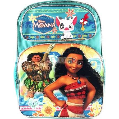 "New Disney Moana 14"" Large School Backpack Book Bag with Pua and Heihei thumb"