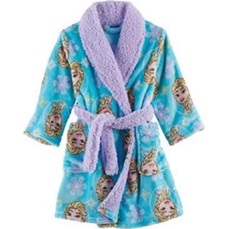 Disney Frozen Toddler Girls Elsa Snowflake Plush Robe Bathrobe Pajamas (2t)  thumb 2ee91f2b2