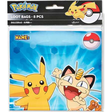 Pokemon Treat Bags, 8 Count, Party Supplies thumb