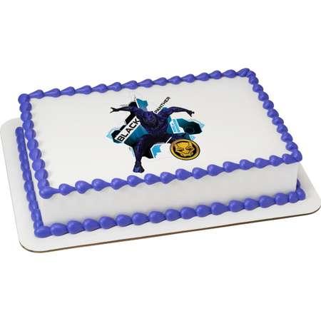 Black Panther 1/4 Sheet Custom Cake Cupcake Edible Sheet Image Birthday Kids Children Wedding Baby Shower Party Toppers Favors thumb
