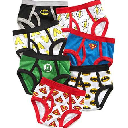 Justice League Little Boys' Toddler Briefs, Pack of Seven Batman Superman Flash thumb