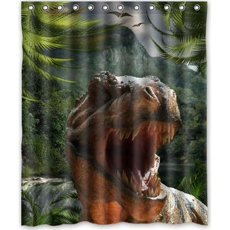 Ganma Jurassic Park Shower Curtain Polyester Fabric Bathroom Shower Curtain 60x72 inches thumb