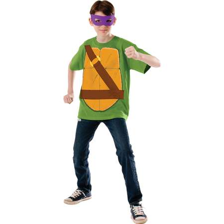 Child's Boy's Teenage Mutant Ninja Turtles TMNT Donatello Shirt Eyemask Costume thumb