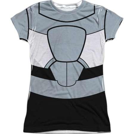 Teen Titans Go! DC TV Show Cyborg Uniform Juniors Front/Back Print T-Shirt thumb