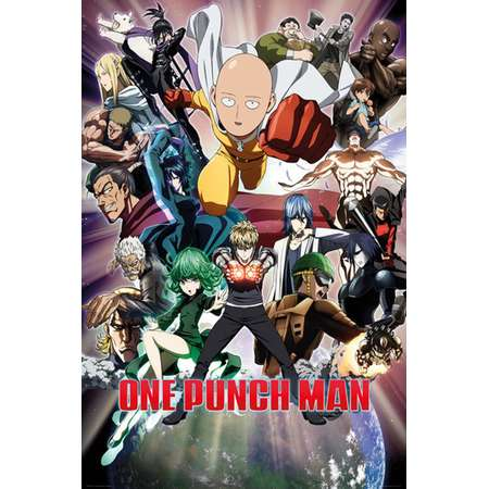 One Punch Man Collage Poster Print (24 x 36) thumb