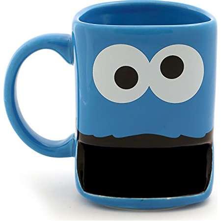 Sesame Street Cookie Monster with Cookie Slot 10oz Stoneware Mug thumb