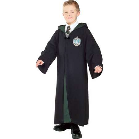 Harry Potter Deluxe Slytherin Robe Child Halloween Costume thumb