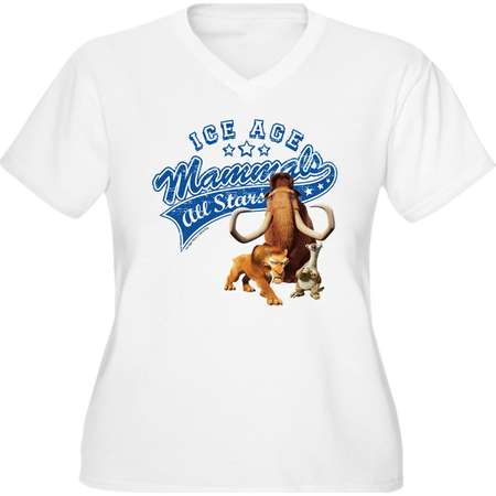 44c5ac5aeb9b1 CafePress - Ice Age Mammals A - Women s Plus Size V-Neck T-Shirt
