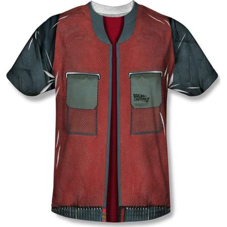 Back To The Future Movie Jacket Costume Adult Front Print T-Shirt Tee thumb