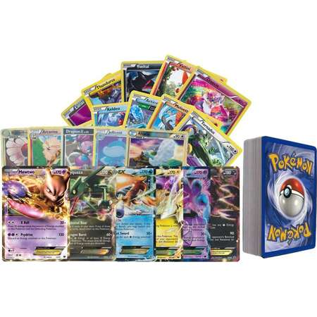 100 Assorted Pokemon Cards with Foils and 2 Ultra Rare Legendary Pokemon thumb