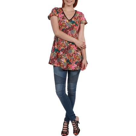 Women's Coco Pink Multicolor Tunic Top thumb