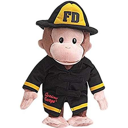 Curious George Fireman Stuffed Animal By GUND thumb