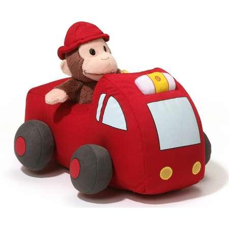 "Gund Curious George Fire Truck 10""L thumb"