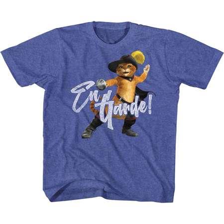 Shrek Movie En Guarde Navy Heather Youth Big Boys T-Shirt Tee thumb