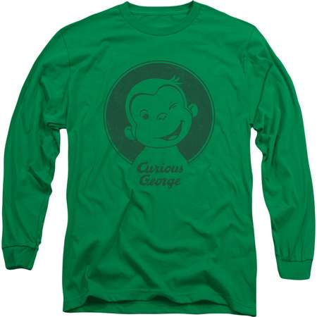 Curious George Children's Book Character Classic Wink Adult Long-Sleeve T-Shirt thumb