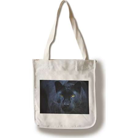 Black Panther - Lantern Press Photography (100% Cotton Tote Bag - Reusable) thumb