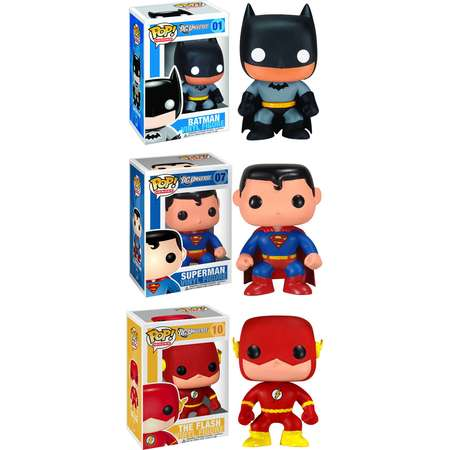 Funko DC Universe POP! Heroes Vinyl Collectors Set: Batman, Superman and Flash thumb