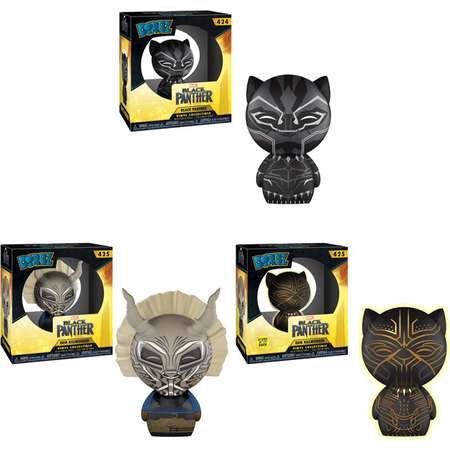 Funko Dorbz Vinyl Figures - Black Panther - SET OF 3 (Black Panther & 2 Erik Killmonger) thumb
