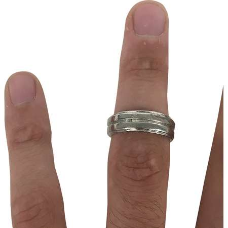 Dean Winchester Silver Ring Band Supernatural Costume TV Show Series Jewelry thumb