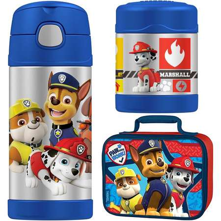 Thermos Funtainer 10 oz Food Jar, 12 oz Bottle Lunch Kit - Paw Patrol thumb