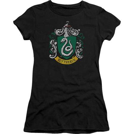 Harry Potter Slytherin Crest Juniors Short Sleeve Shirt thumb