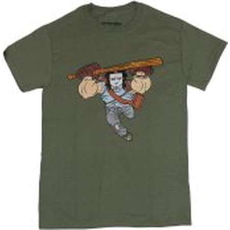 Teenage Mutant Ninja Turtles Mens T-Shirt - Cartoon Casey Jones Lunging Image thumb
